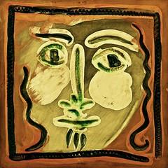 Visage aux cheveux bouclés (1956) - Pablo Picasso (1891 -1973)