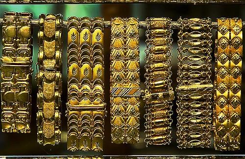 18kt Gold Bracelets in the Gold Souq in Amman