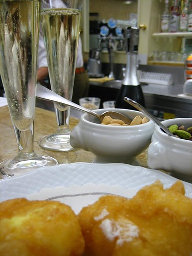 Aperitivi - order prosecco, get really good free nuts.  And order some fried cookies, too.