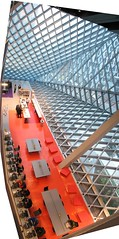 Seattle Public Library (OZinOH) Tags: seattle vertical library stitching seattlepubliclibrary washingtonstate publiclibrary aia150 ll100 nonrectangle