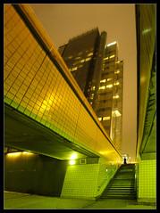 m a t r i x ? ([ Petri ]) Tags: city urban matrix modern night finland helsinki angles ruoholahti angst stiched sitra helluva autostiched impressedbeauty