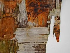 Tattered door (allispossible.org.uk) Tags: door wood old rot texture broken rotting wooden decay destruction grunge ripped smashed damaged stressed destroyed