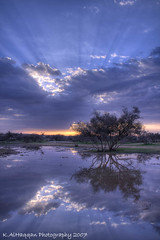 great reflection (Khalid AlHaqqan) Tags: light lake reflection tree slr nature water rain clouds sunrise canon lens eos usm 1855mm khalid efs hdr f3556 kuwson alhaqqan