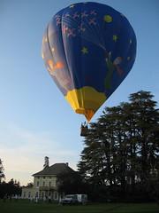 Vol en montgolfière depuis le domaine des séquoias