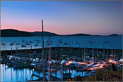 Abel Point Marina (aumbody images) Tags: ocean longexposure light sunset sea sky colour reflection beach nature water night marina boat bravo harbour australia whitsundays queensland airliebeach 30d tamron2875mm aumbodyimages abigfave abelpointmarina superbmasterpiece