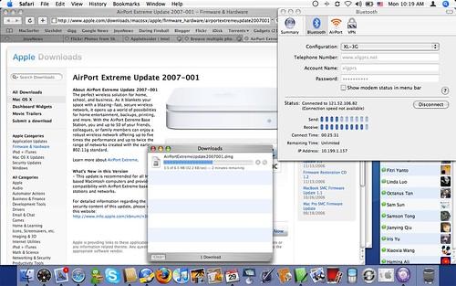 MacBook on 3G Network via bluetooth