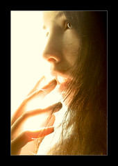 (ilina s) Tags: light selfportrait closeup backlight warm fingers profile blueribbonwinner ilina ilinas