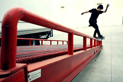 Chris Larue Feeble to Smith (It was the light, it was the angle) Tags: chris color digital canon eos interestingness friend skateboarding bs skating rail smith explore skate skateboard 5d skater dslr grind sk8 skateboarder homie larue ef1740mm ineeddadrink interestingness2507