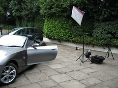 Convertible Lighting Setup (Photosmudger) Tags: lighting canon grid eos portable power bees tripod alien bmw 5d setup z4 softbox vagabond spilkill