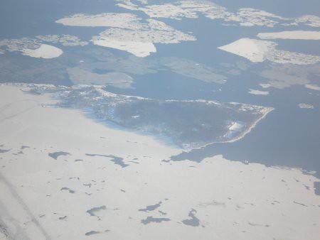 Mar congelado desde el aire 5