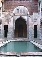 Al-Sihrij Madrasa, Fez (josiehen) Tags: school water morocco fez islamic madrasa medersa sihrij