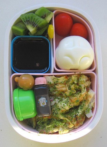 Speedy okonomiyaki bento for toddler お弁当