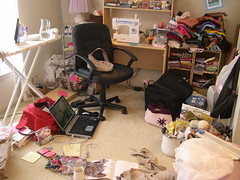 Crafting Tornado (craftsty) Tags: mess sewing space room craft workspace crafting spaces sewingroom craftroom sewingspace craftspaces