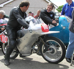 NSU with dolphin fairing (voigtlander) Tags: max classic racing motorbike motorcycle racer iom rennmax sportmax