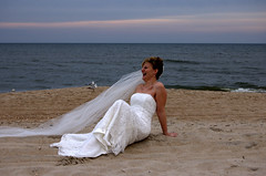 Jessica's portrait (outknpics2) Tags: wedding beach bride nikon veil potrait d40 outknpics2