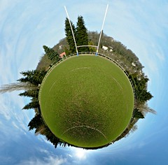 The S.E.T.I. program (Man) Tags: panorama green grass sport campus 21 rugby lawn gimp 360 full explore handheld 360x180 spherical 360 hec planetoid hugin enblend teamsport interestingness205 i500 littleplanet manuperez planetoids groundsport