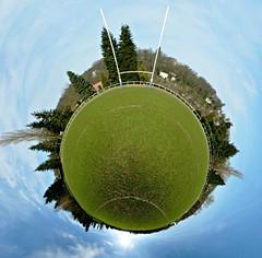 The S.E.T.I. program (Manυ) Tags: panorama green grass sport campus 21 rugby lawn gimp 360 full explore handheld 360x180 spherical 360° hec planetoid hugin enblend teamsport interestingness205 i500 littleplanet manuperez planetoids groundsport