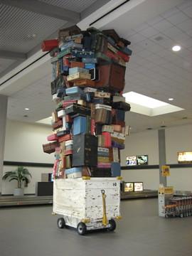 baggage sculpture at Sacramento airport