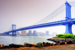 Manhattan Bridge (Wolfgang Staudt) Tags: nyc newyorkcity trip morning travel bridge blue summer usa newyork color green water beautiful brooklyn america river subway amazing nikon highway traffic cloudy nikond70 manhattan steel south lowereastside north july free sigma polish roadtrip walkway lane manhattanbridge eastriver wikipedia interstate hdr lowermanhattan stopthewar orton 212 somethingimade travelphotographie pedestrianwalkway riversidecaf usa2006 flickrsbest sixsixsixclub wolfgangstaudt 66111 favemegroup3 favemegroup5 usaurlaub80713082006