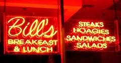 Breakfast and Lunch (podolux) Tags: signs philadelphia sign night neon nightshot bills pa nighttime neonsign philly afterdark mycity phila cityofbrotherlylove sansomst afterthesunhasset cityofphiladelphia