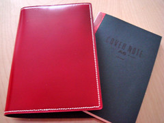leather cover + Maruman notebook