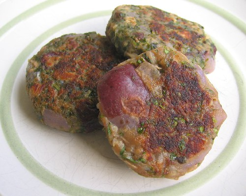 Faux latkes with tuna