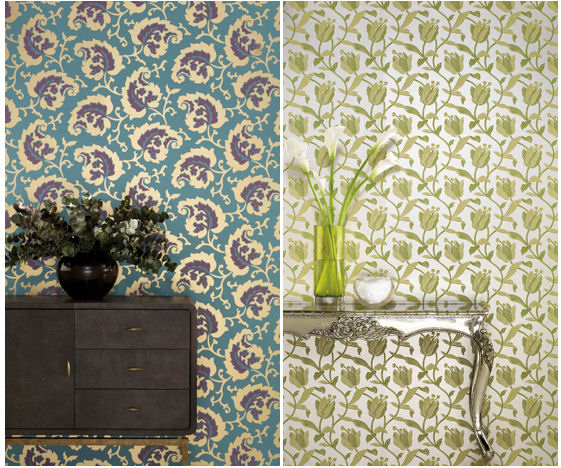 Osborne & Little *New* Spring Patterns (what do you think about metallics?)