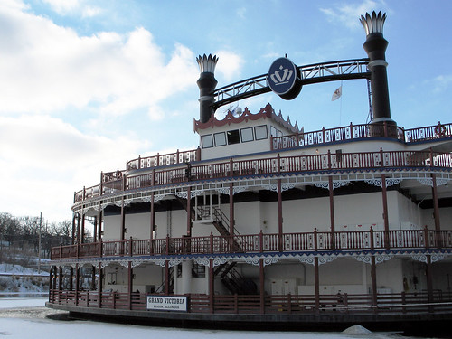 Riverboat Casino on the frozen Fox River