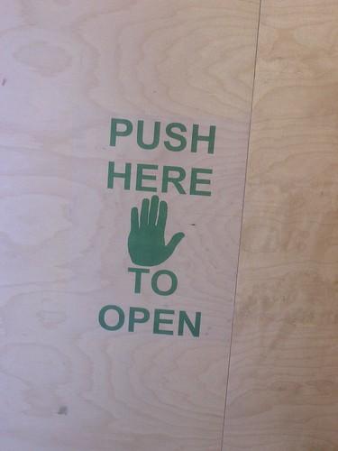 Push here