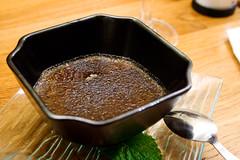black sesame creme brulee