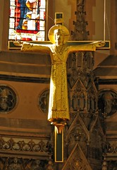 Golden Rood (Lawrence OP) Tags: christ cross oxford rood crucifixion oratory hansom