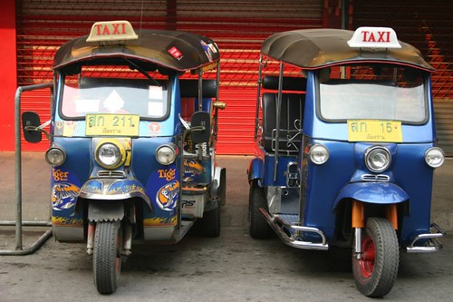 Tuk-tuks in Chiang Rai