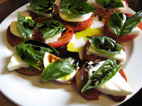 Caprese salad in the making, 2