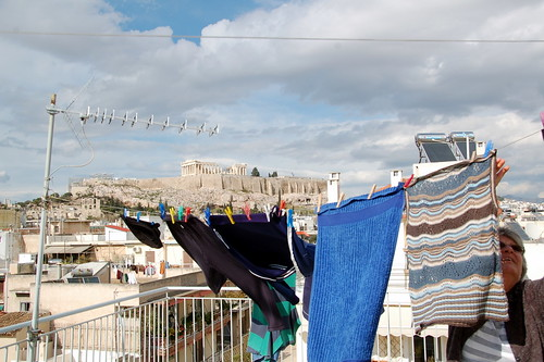 Rooftop Washing Line