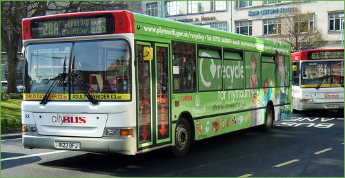 023 R123OFJ Plymouth Citybus