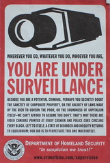 Sign of the Times (ttcopley) Tags: usa sign america liberty freedom sticker surveillance homelandsecurity security wa activism criticism