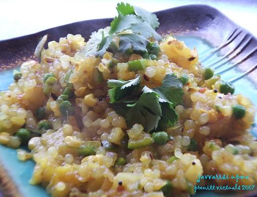 easy recipe tapioca pearls vegetable upma sabu dana javvarisi