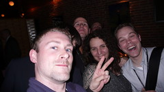 Me and the Peeps (Patrick Haney) Tags: boston ma patrickhaney mollyholzschlag aea aneventapart aeaboston2007 upcoming:event=127409 aeaboston07 restaurant33