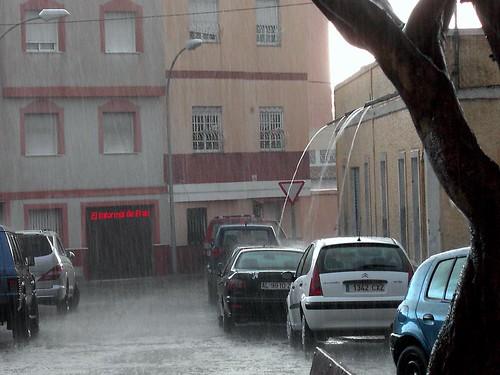 Lluvia en Melilla