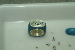 PICT1714 (jon m ryan) Tags: art silver aluminum workinprogress craft jewelry ring sterling process anodized jonryan