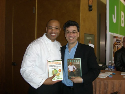 Stephen Dubner with Chef Jeff Henderson