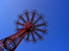 Coney Island Parachute Jump (stevesobczuk) Tags: newyorkcity sky beach brooklyn coneyisland parachutedrop parachutejump