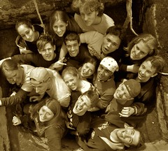 Friends (Villa Sams) Tags: 2005 trip friends sepia youth project military mission service slovakia clubbeyond abigfave superaplus aplusphoto villasams superbmasterpiece mcym peopleinawell