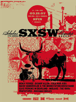 sxsw schubas day party poster