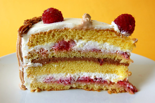 Slice of French Strawberry Cake