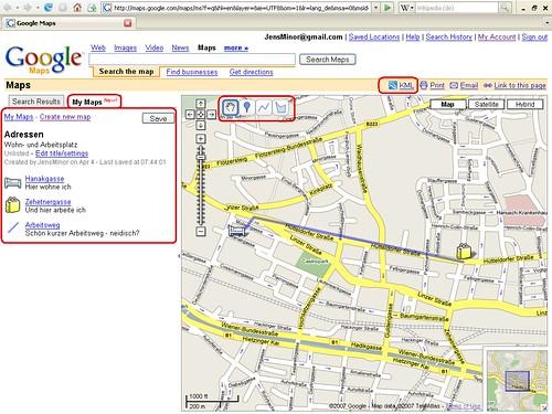 Übersicht - My Maps