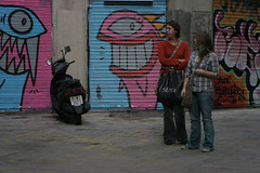 Street art in Barcelona, Spain (Just in Parr) Tags: barcelona street justin streetart art graffiti spain montana mtn spraypaint anti parr iownyou turnitoff blameless thankless aerosal happygraffiti