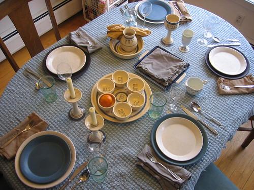 Seder Table 2