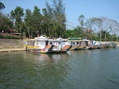 Tour boats (Florence3) Tags: vietnam hue perfumeriver tourboats