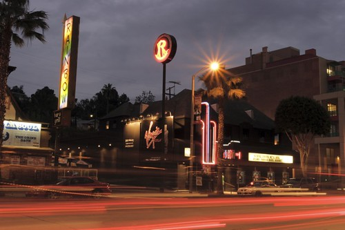 The Roxy Theatre - Sunset Blvd looking east